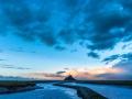 Abbey Le Mont Saint Michel in the sunset