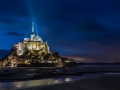 Abbey Le Mont Saint Michel in the night