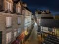 Village Le Mont Saint Michel in the night