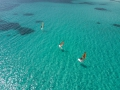 Corsica Santa Giulia beach drone surfer