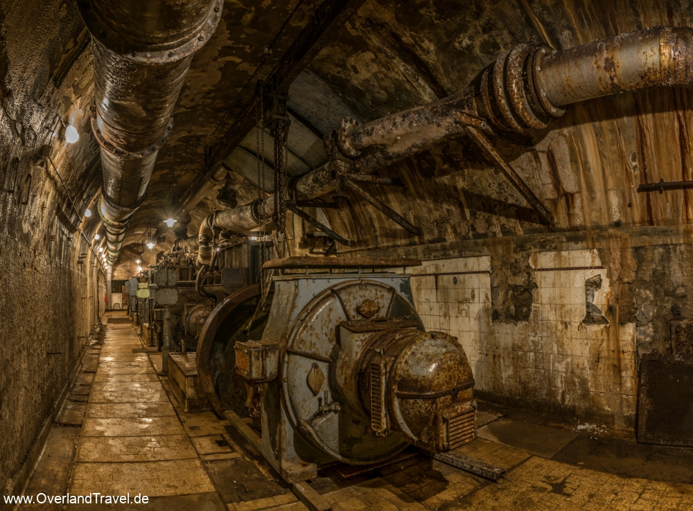 Fort Ouvrage Michelsberg Maginot Line generator hall