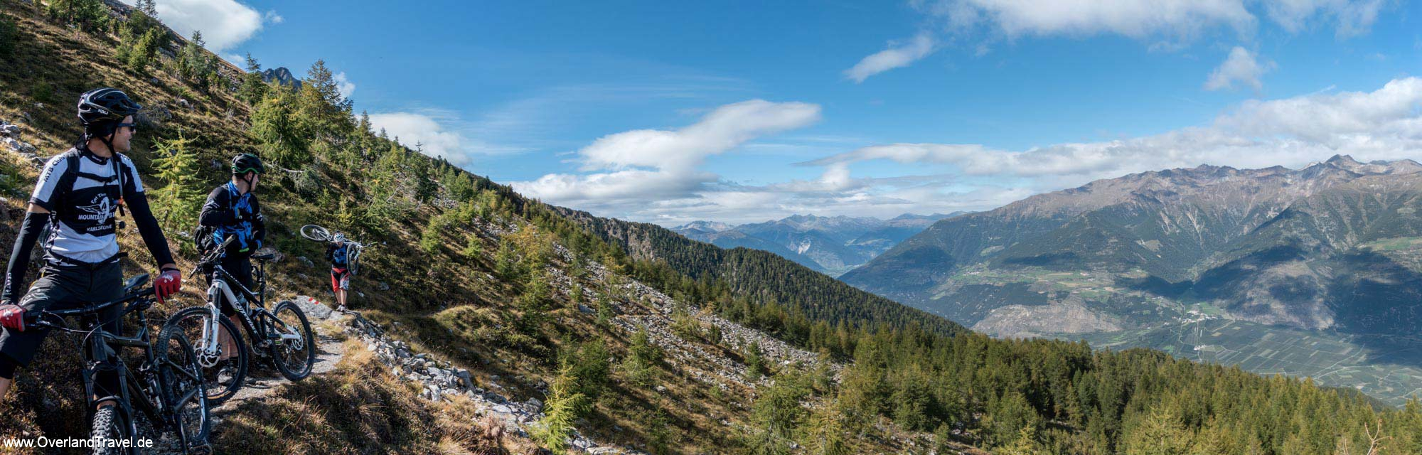 Tyrol Vinschgau mtb Tour Göflan Marmor Panorama