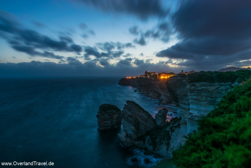 Stormy sunset at the Bonifacio rocks