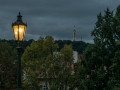 Gas lamp at the Charles Bridge in the early morning light