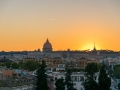 Sunset in Rome, view to the Saint Peter\'s Basilica