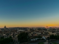 Rome early morning sunrise panorama in the first sunlight