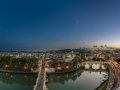 A panorama from the roof of the Castel Sant\'Angelo down to the river tiber
