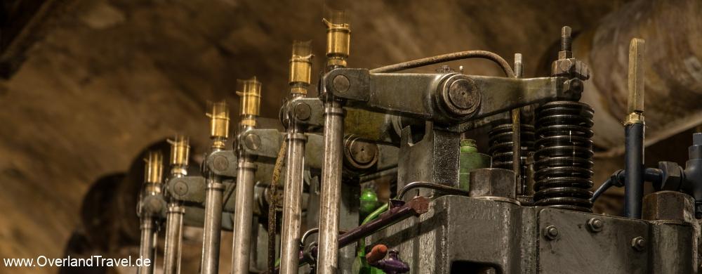 Fort Ouvrage Michelsberg Maginot Line running diesel generator