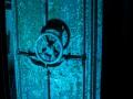 Fort Ouvrage Michelsberg Maginot Line bunker door blue