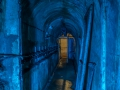 Fort Ouvrage Michelsberg Maginot Line tunnel blue,