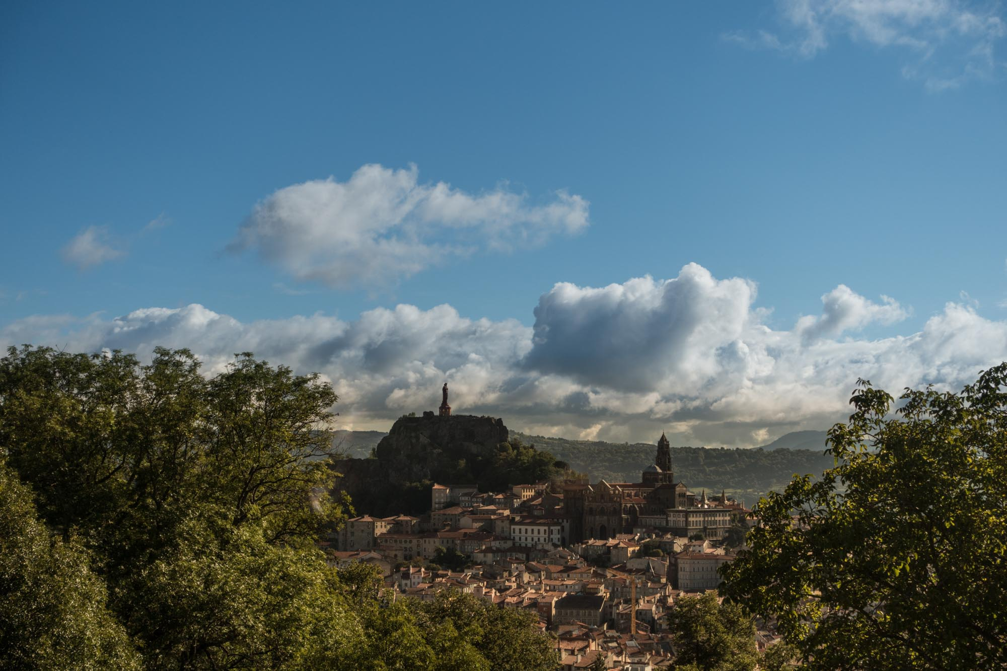 Le Puy en Velay in the morning sun