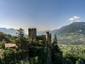 Castle Brunnenburg near Meran by drone