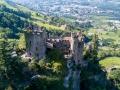 Castle Brunnenburg near Meran by drone
