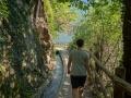 Hiking along the waal path Marling