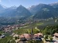 Schenna South Tyrol St.-Georgenkirche by drone
