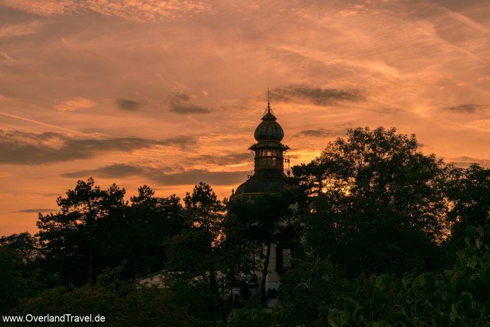 The Vyhlídka viewpoint as sunset