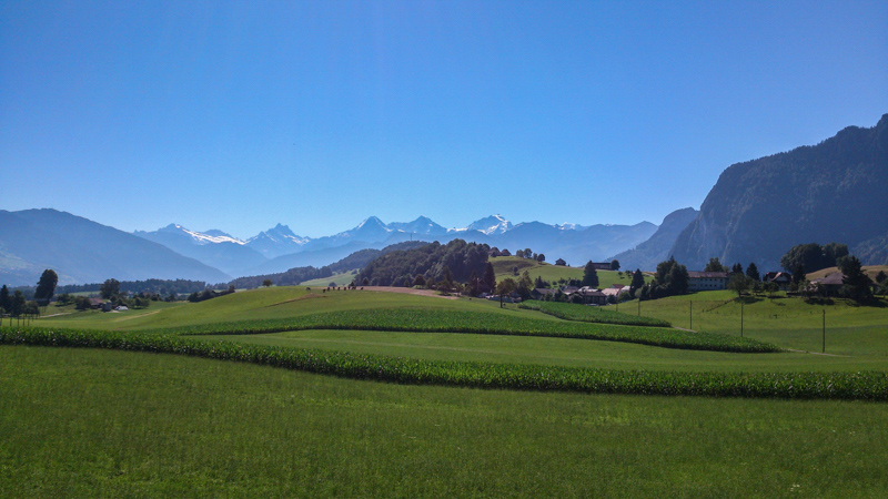 Switzerland farmland Camino Via Jacobi mtb