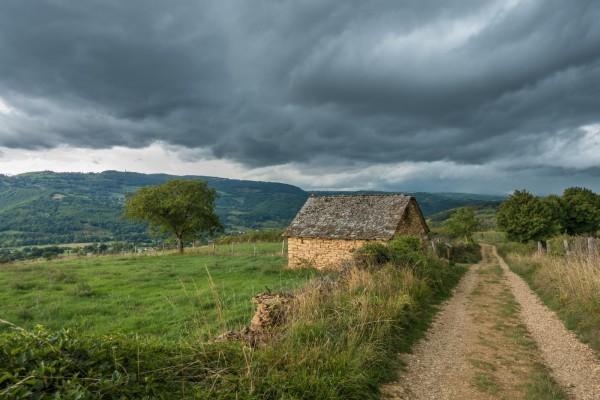 Camino Santiago Mtb Via Podiensis Rain