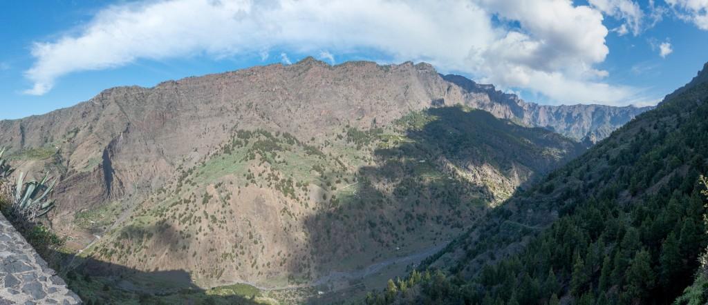 La Palma, Caldera de Taburiente,Panorama,Blick in den Vulkan Krater
