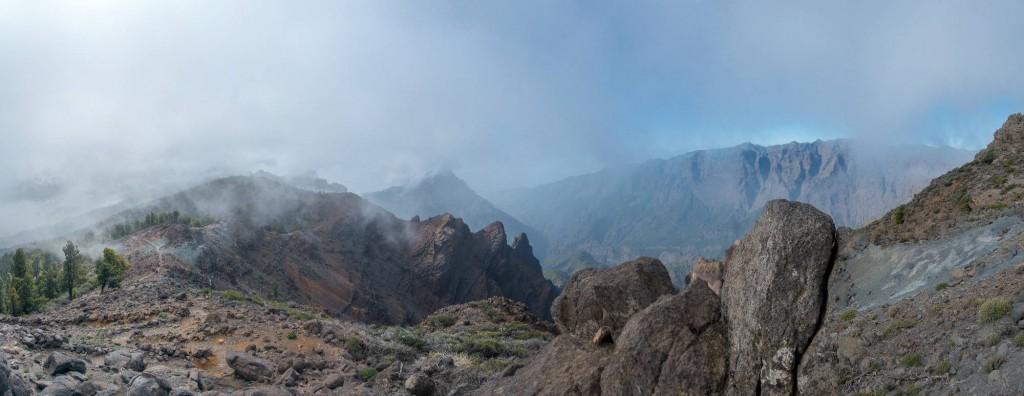 La Palma,Pico de las Nieves, Caldera de Taburiente, Panorama, Mtb