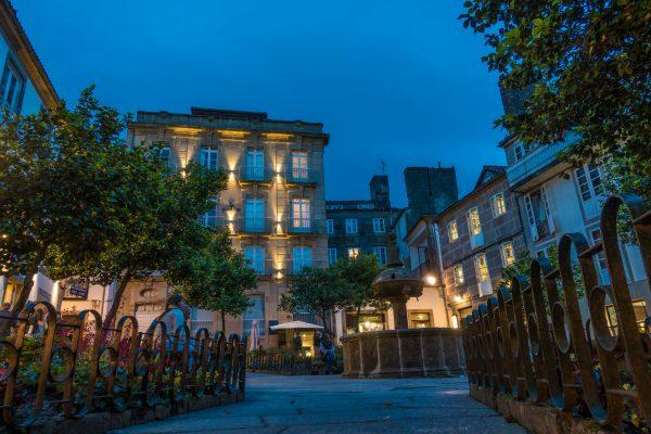 Santiago de Compostela night