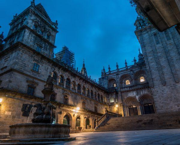 Santiago de Compostela night cathedral 2