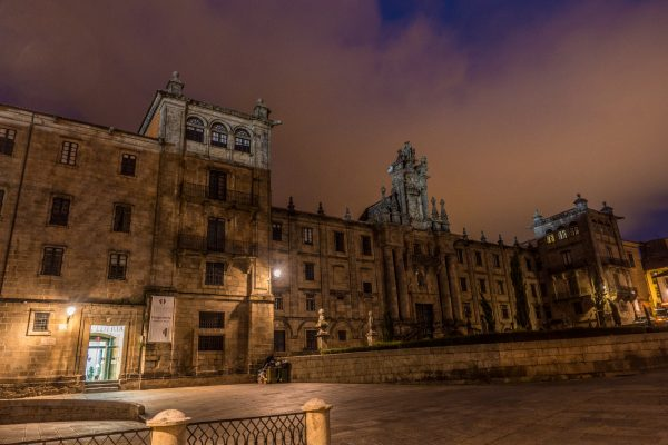 Universidad de Santiago de Compostela night jakobsweg mountainbike
