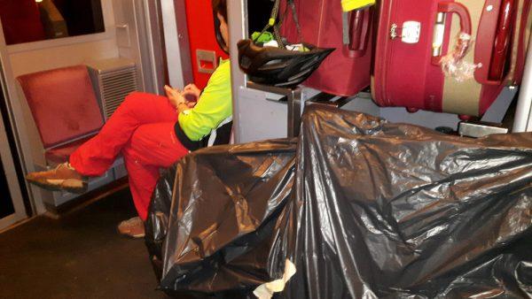 Fahrrad als Reisegepäck im TGV (kein Problem)