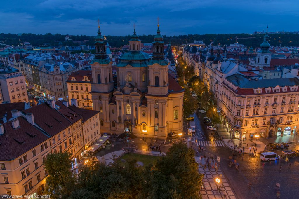 Prag Prague Blue Hour Available Light Altstädter Ring Old Town Church of Our Lady before Týn Chrám Matky Boží-před Týnem Night