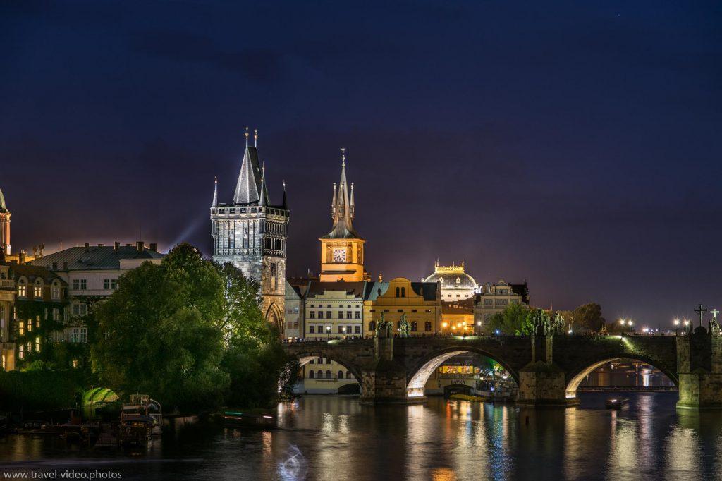 Prag Prague Blue Hour Available Light Karlsbrücke Charles Bridge Karlův most Night