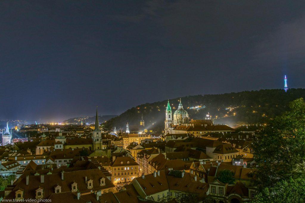 Prag Prague Blue Hour Available Light Petřín St.-Nicholas Church Kostel sv. Mikuláše Malostranská mostecká věž Night