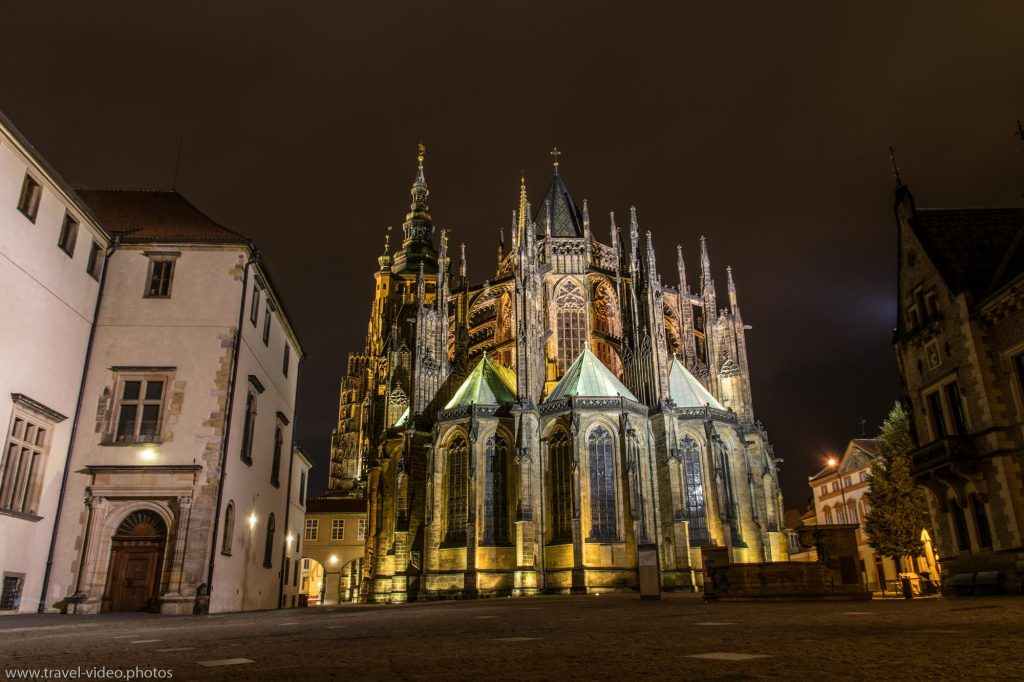 Prag Prague Blue Hour Available Light-St. Vitus Cathedral Veitsdom Castle Burg Pražský hrad Night