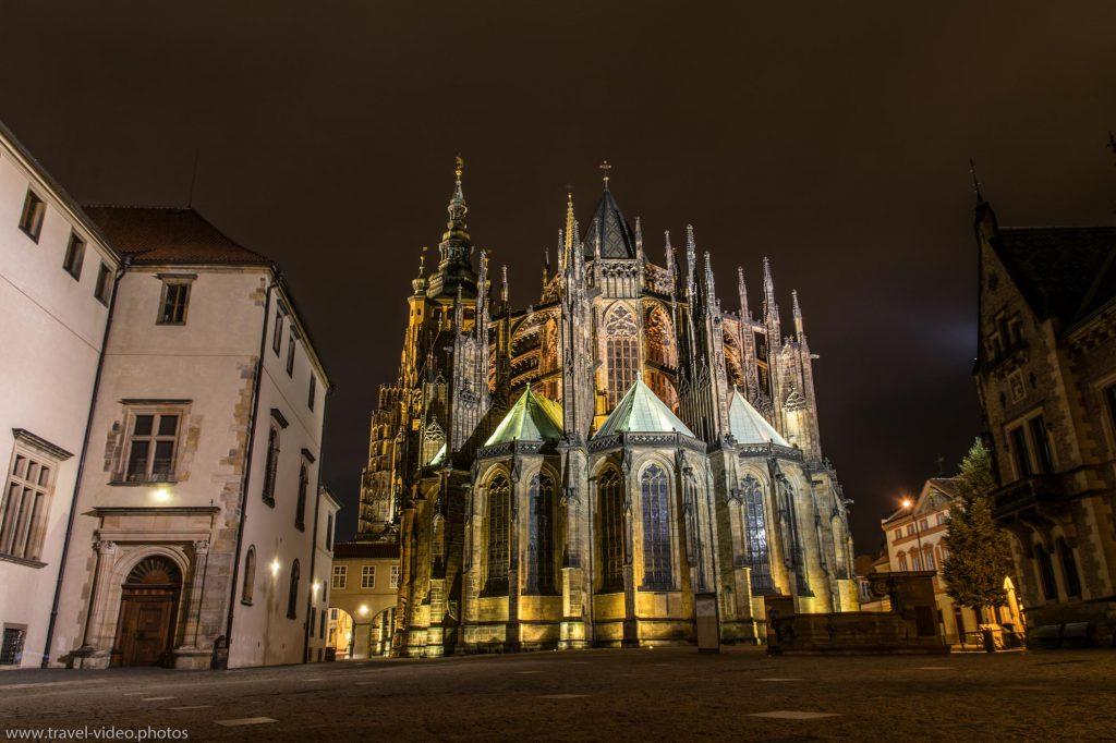 Prag Prague Blue Hour Available Light-St. Vitus Cathedral Veitsdom Castle Burg Pražský hrad Night