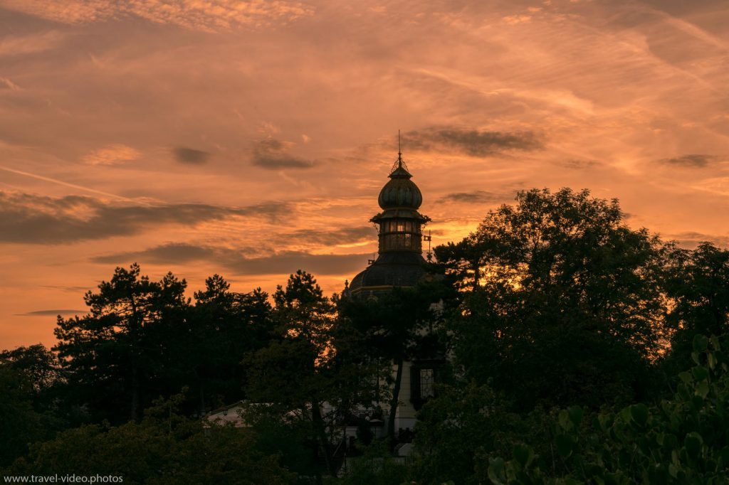 Prag Prague Blue Hour Available Light Vyhlídka