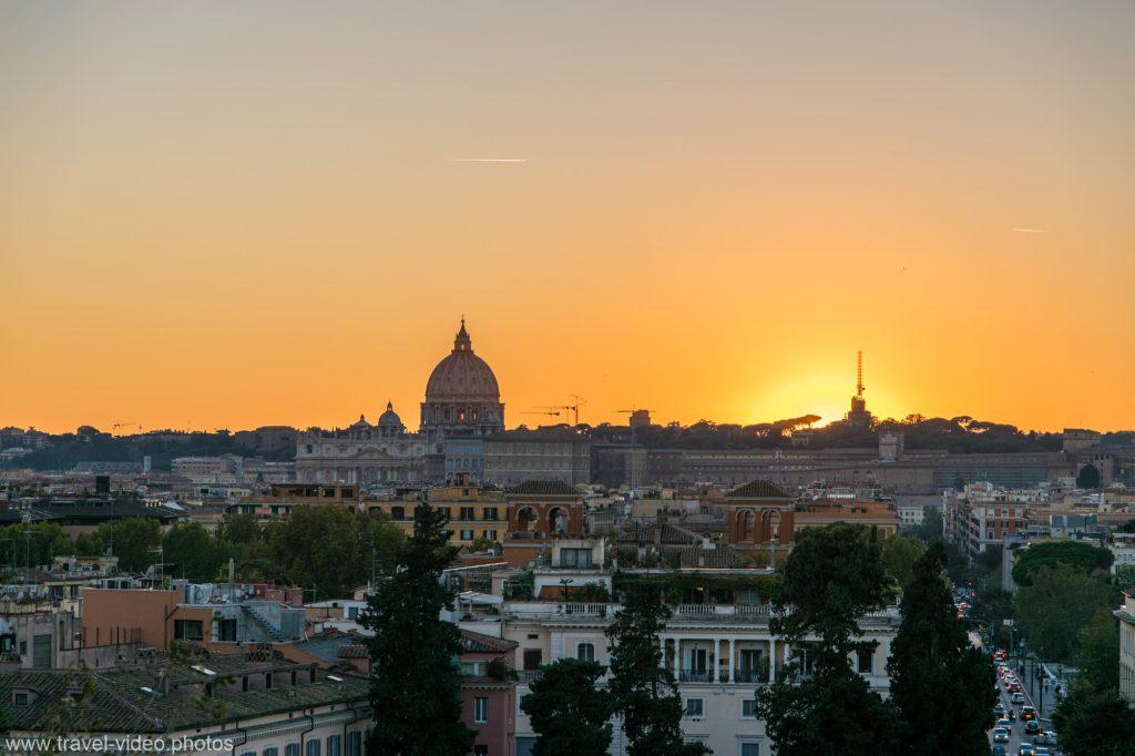 Saint Peter's Basilica sunset panorama