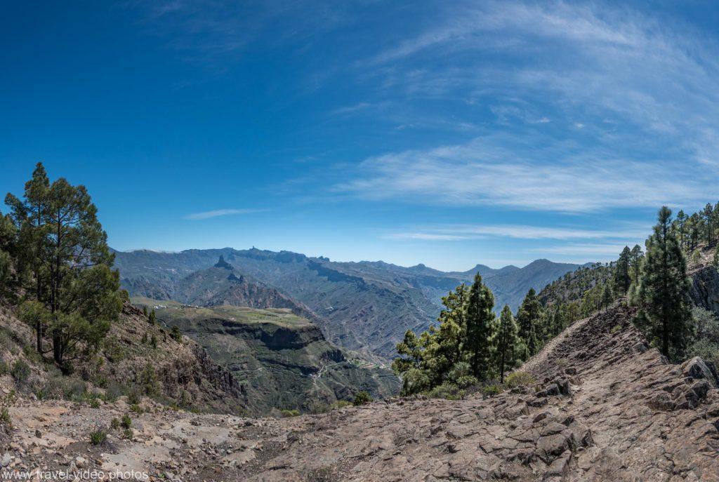 gran canaria caldera panorama roque de bentayga mtb