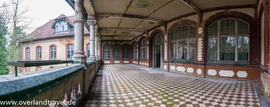 beelitz heilstatten lost place Männersanatorium Balkon