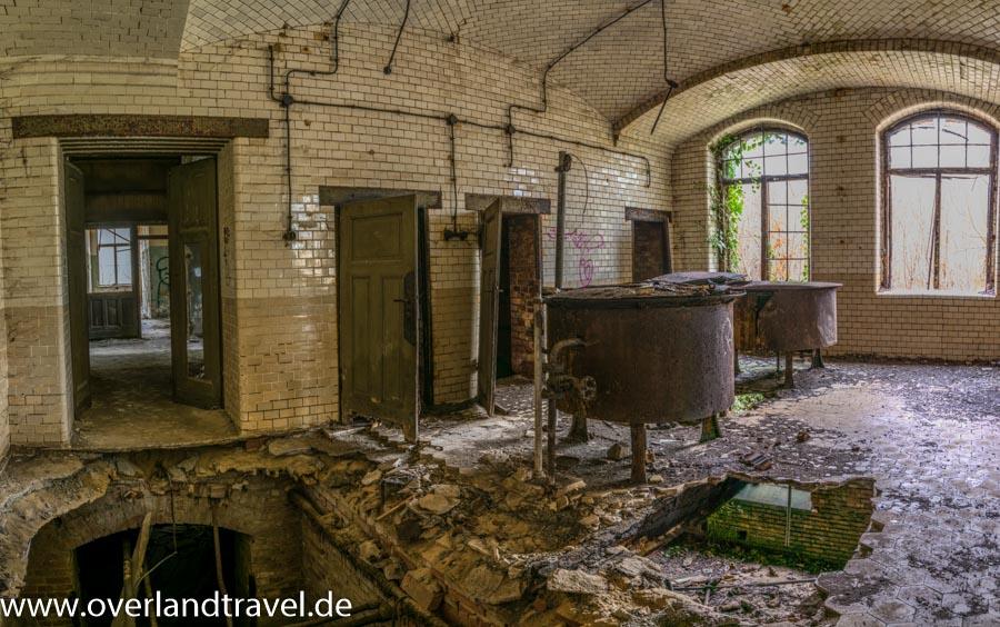 beelitz heilstatten lost place ehemaligen Fleischerei