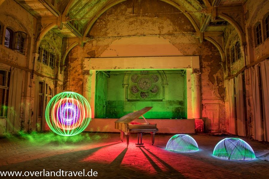 Lightpainting im alten Speisesaal Männer Lungenheilstätte B3 Beelitz