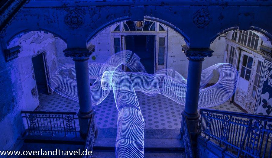 Lightpainting im Treppenhaus der Männer Lungenheilstätte B3 Beelitz