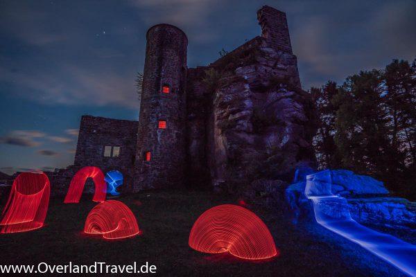 burgruine neudahn rheinland pfalz burg castle ruin light painting sony alpha a7r3 16 35 2 8 3
