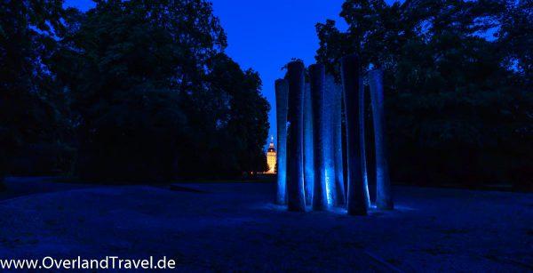 Light Painting Schloss Garten Karlsruhe