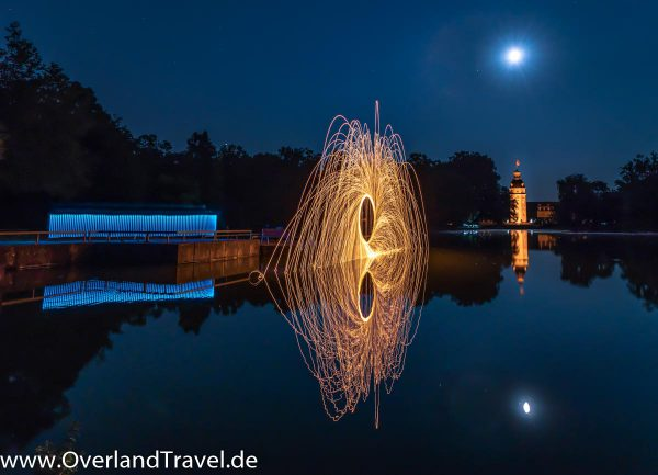 Light Painting Schloss Garten Castle Garden Karlsruhe Steel Wool Photography Stahlwolle Fotografie